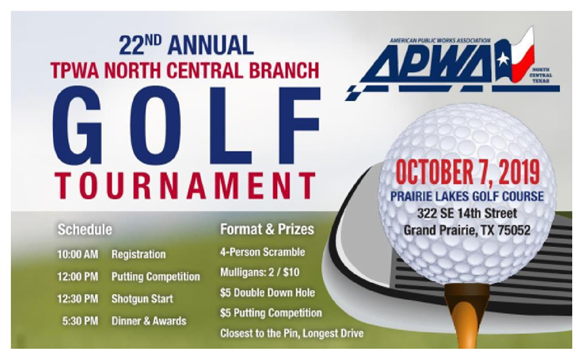 Click here for 2019 Branch Golf Tournament Registration and Event Details